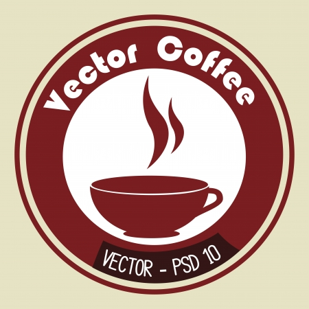 psd: coffee design over beige background vector illustration