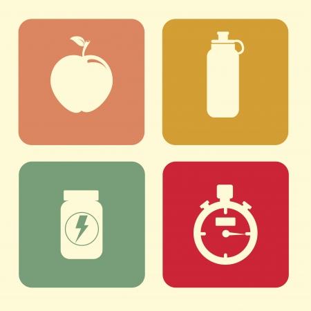 water bottle: healthy design over white   background vector illustration
