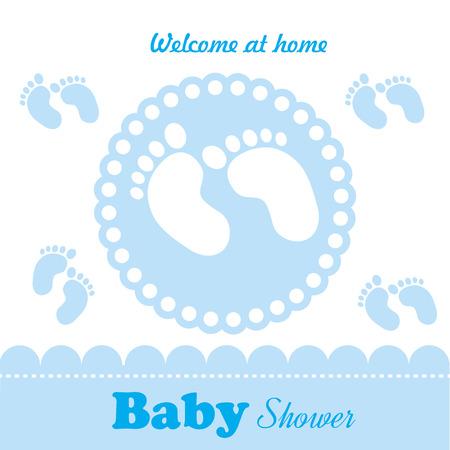 pies: dise�o del beb� sobre el fondo blanco ilustraci�n vectorial