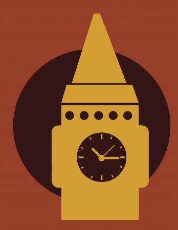 big timer: time design over red background vector illustration