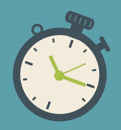 time design over blue background vector illustration Ilustracja