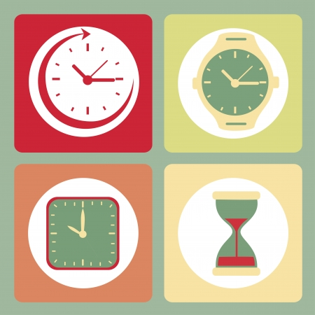 time design over blue  background vector illustration Vector