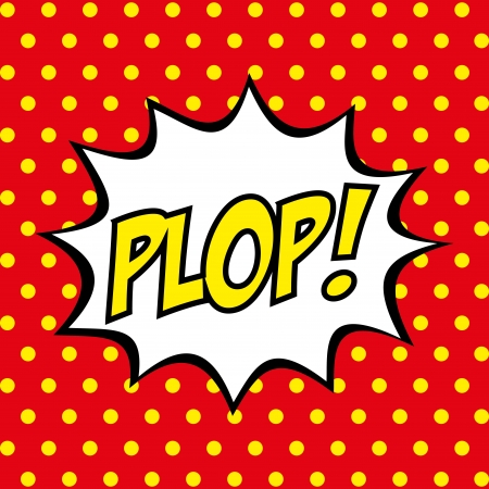Pop art sur fond rouge illustration vectorielle Banque d'images - 25249246