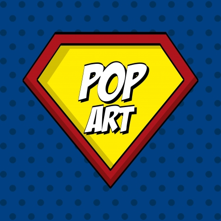 nuclear fission: pop art   over  dotted background vector illustration