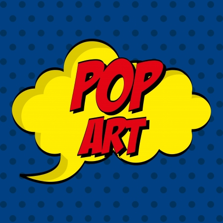 nuke: pop art   over blue  background vector illustration