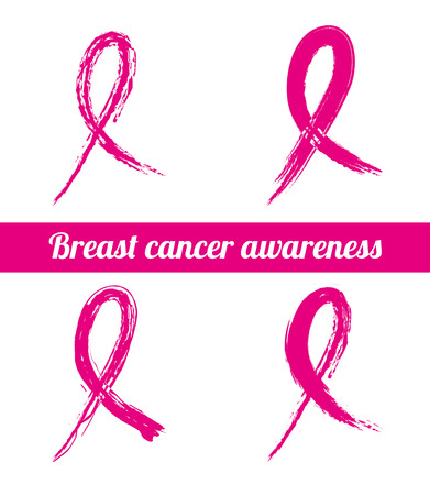 cancer: breast cancer over white  background vector illustration