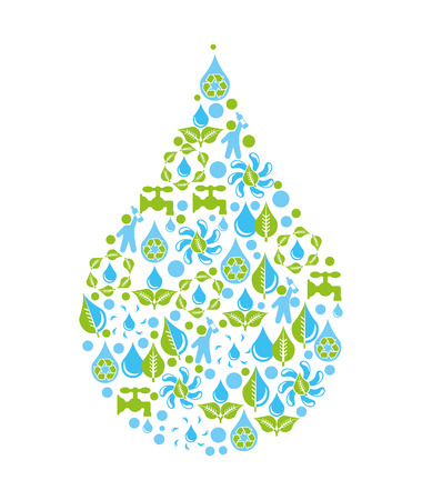 water design over white background vector illustration Illustration