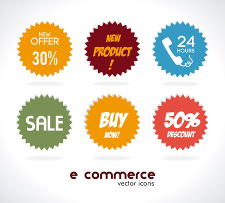 ecommerce design over  gray background. vector illustration Vector