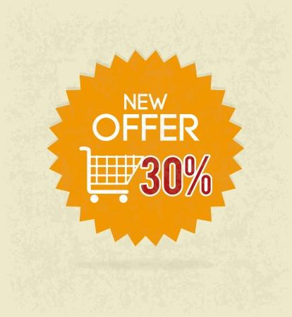 new account: commerce design over beige background vector illustration Illustration