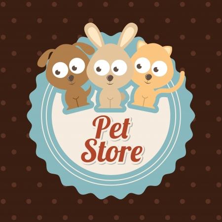 rabit: pets  design over dotted  background vector illustration