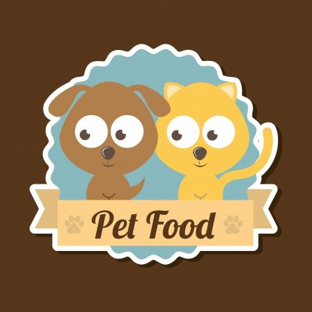 dog food: pets  design over brown  background vector illustration