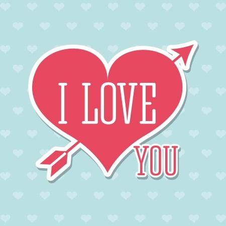love letters: love design over pattern   background vector illustration   Illustration