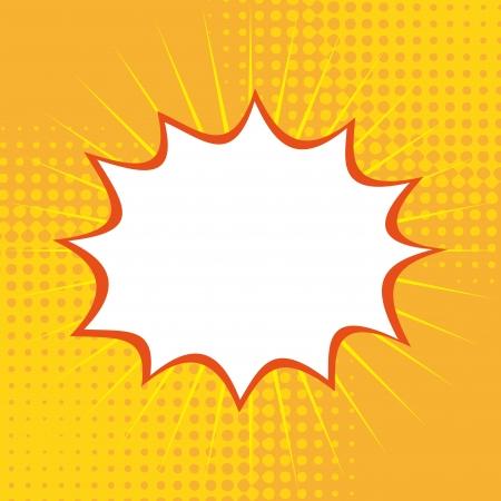 pop art   over   yellow background vector illustration Stock Vector - 25248919