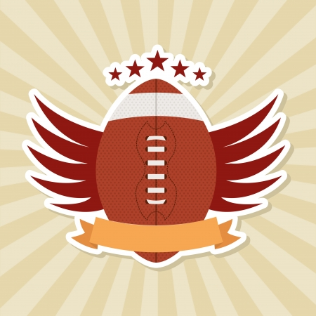 american football design over grunge  background vector illustration  Vector