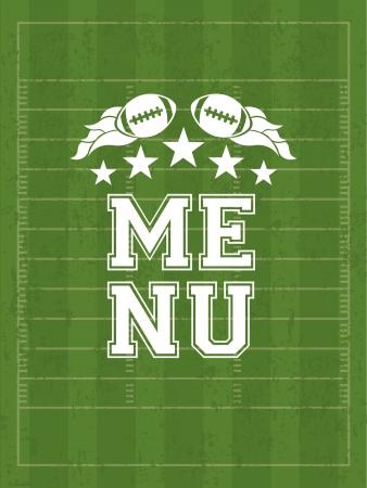 american football design over green   background vector illustration  Illustration