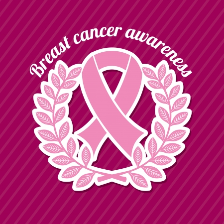 breast cancer over purple background vector illustration Vector