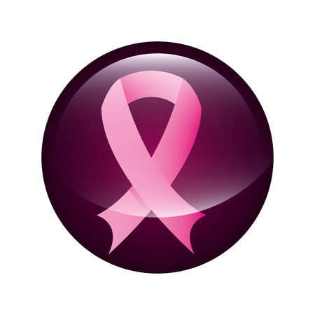 breast cancer over white background vector illustration Vector