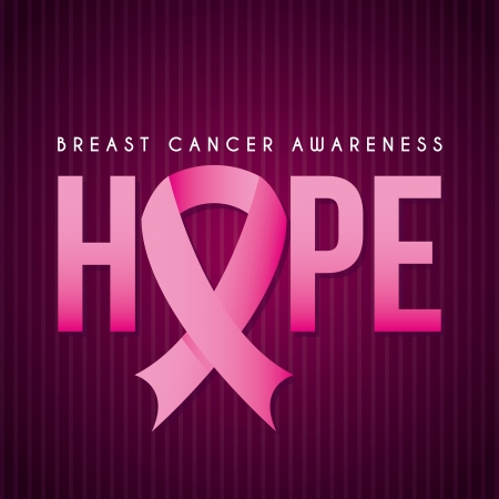 breast cancer over purple background vector illustration