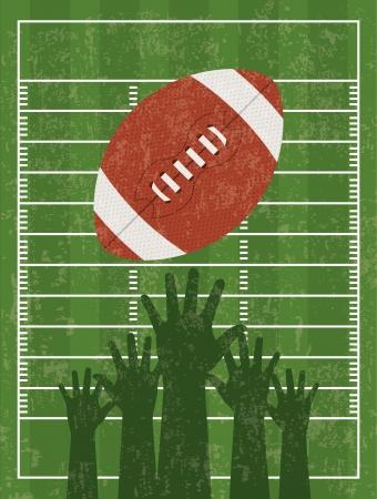 american football background: american football design over  green background vector illustration  Illustration