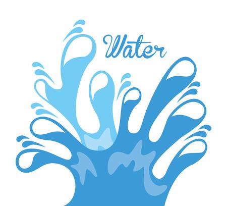 resourse: water design over white  background vector illustration Illustration