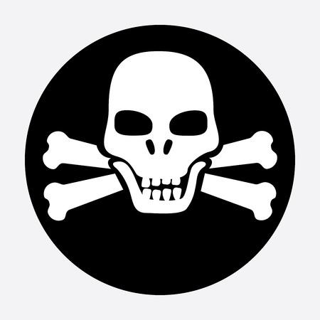 mortal: danger design over gray  background vector illustration  Illustration