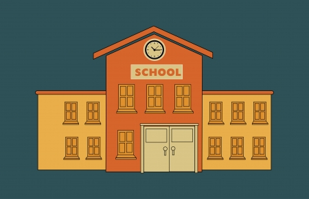 school design over blue background vector illustration Vector