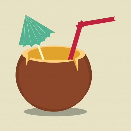 coconut: summer design over beige background vector illustration