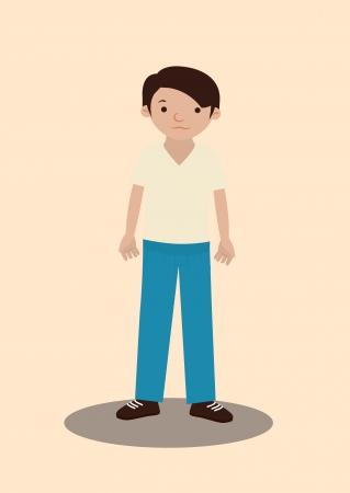 man design over pink  background vector illustration