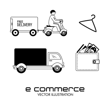 ecommerce design over white  background. vector illustration Vector