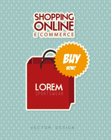 ecommerce design over  blue  background. vector illustration Vector