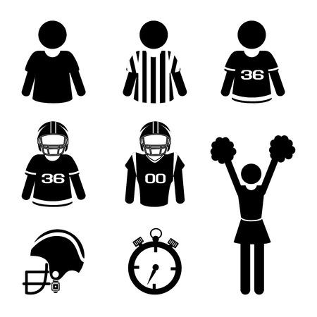 arbitros: diseño de fútbol americano más de fondo blanco ilustración vectorial