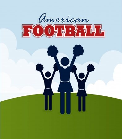 american football design over  sky background vector illustration  Vector