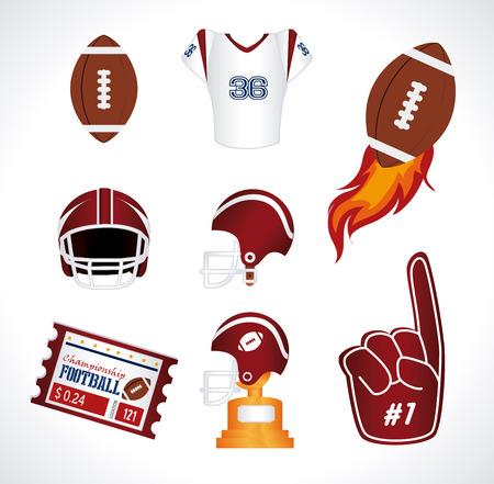 american football design over white  background vector illustration  Vector