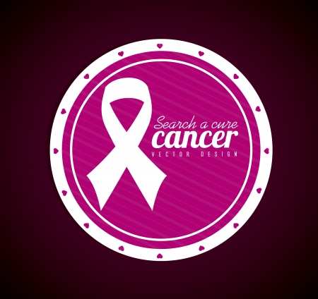 breast cancer over  black background vector illustration Vector