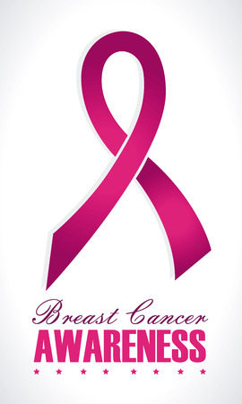 cancer: breast cancer over gray  background vector illustration Illustration