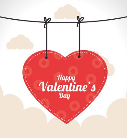 love design over  sky background vector illustration