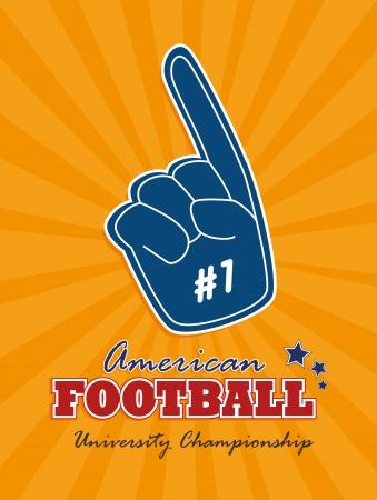 american football design over orange  background vector illustration