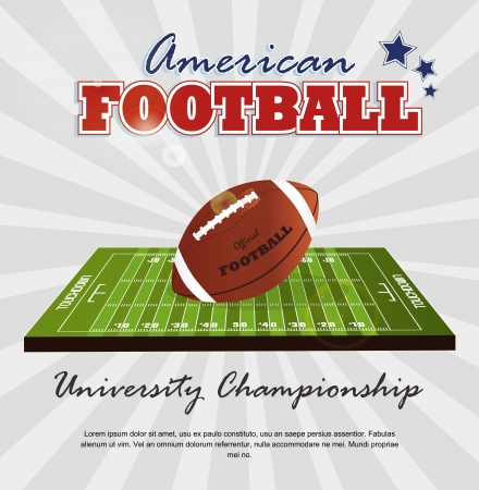 ball field: american football design over gray  background vector illustration