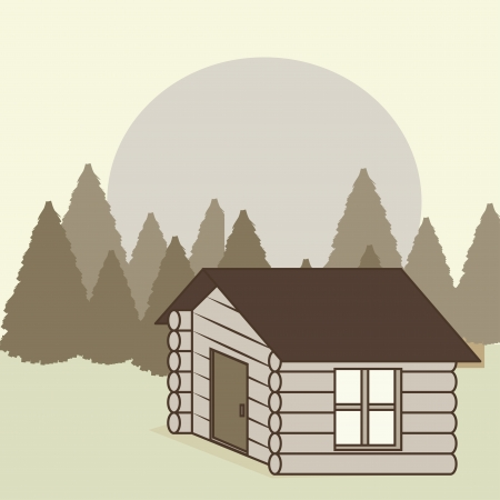 camping design over  background vector illustration   Vector