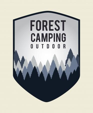 camping design over pink background vector illustration   Vector