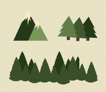 camping design over beige  background vector illustration