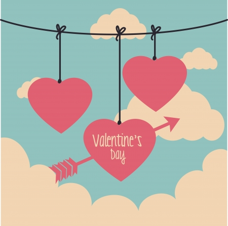 love design over  sky  background vector illustration   Vector
