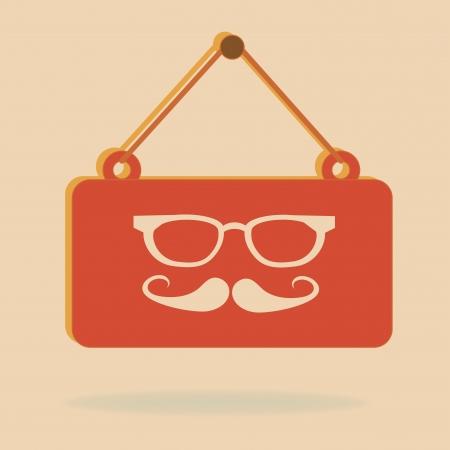 hipster design over pink background vector  illustration
