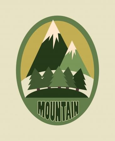 camping design over beige  background vector illustration   Vector