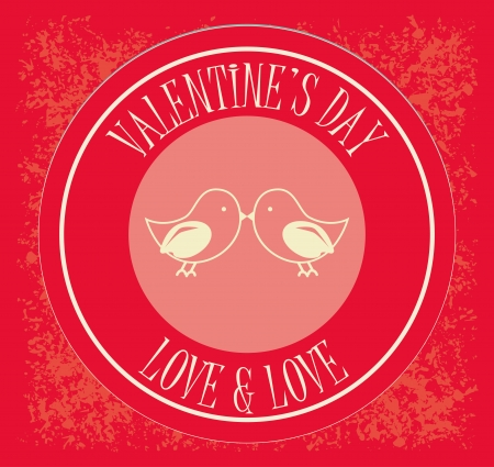 love design over  red  background vector illustration   Vector