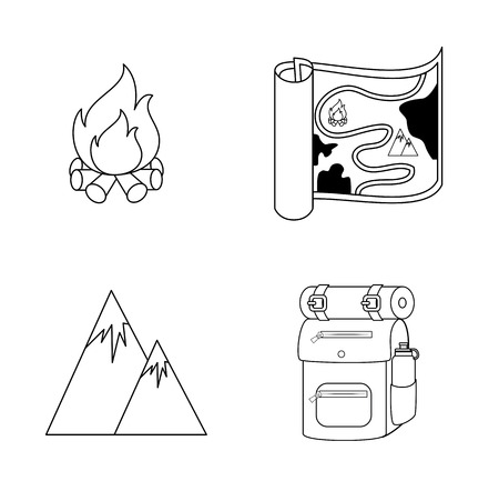 excursions: camping design over white  background vector illustration