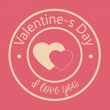 love design over  pink background vector illustration   Vector