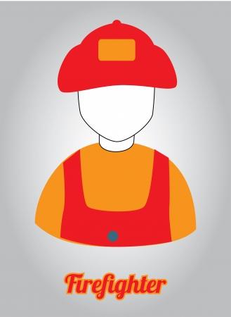 rescuing: firefighter design over gray background vector illustration Illustration