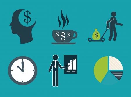 employe: business icon over  blue  background vector illustration Illustration
