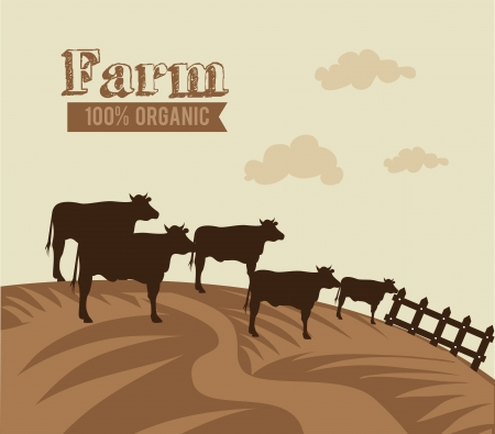 farm design over  beige  background vector illustration Vector